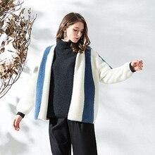 Woolen Coat Short Cardigan 2018 New Women Round Neck Plush Knit Jacket Casual Fashion Loose