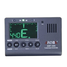 Aroma AMT-560 Chromatic Tuner Metronome also for Bass Guitar Violin Ukulele with with Pickup Cable
