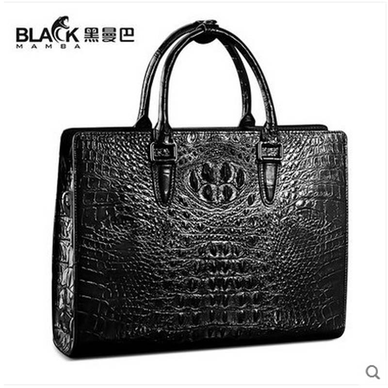 heimanba crocodile Briefcase business single shoulder bag large capacity cross - leather male bag alligator leather handbag