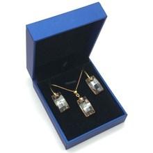 MS Betti уникальное Золотое женское ожерелье с квадратным кристаллом от Swarovski сезон Мода Свадебные ювелирные изделия
