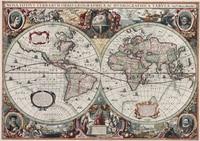 Холщовые декоративные картины для дома и офиса  карта золотого возраста 1630  бескаркасная  настенная  Старая карта