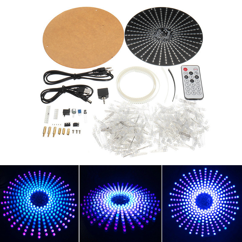 Mising Diy 3d Led Light Cube Kit 16x16 268 Led For Advertising Diy Electronic Kit With Remote Control Welding Auxiliary Plate Commercial Lighting Back To Search Resultslights & Lighting