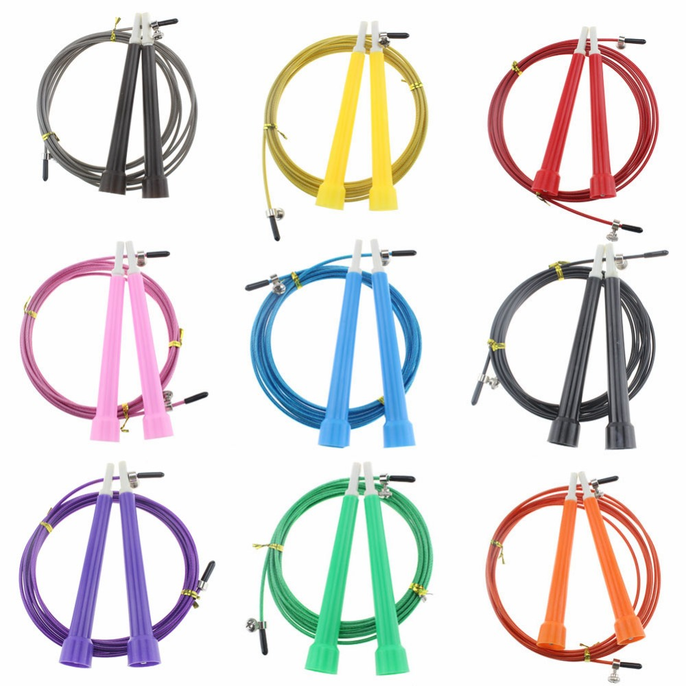 High Speed Steel Wire Skipping Adjustable Jump Ropes Fitness Equipment Gifts