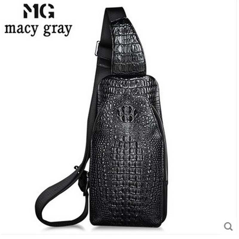 meixigelei new crocodile leather men chest bag business men bag leisure bag single shoulder bag коньки maxcity snipe girl 33 36