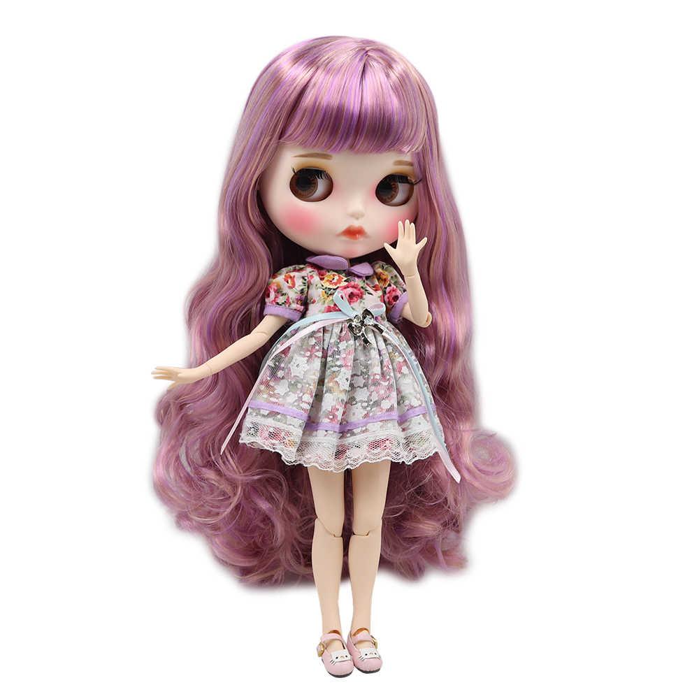 Blyth кукла шарнир тело DIY BJD ледяной игрушки Новый матовый корпус белая кожа модные куклы подарок Специальное предложение с ручной набор A & B