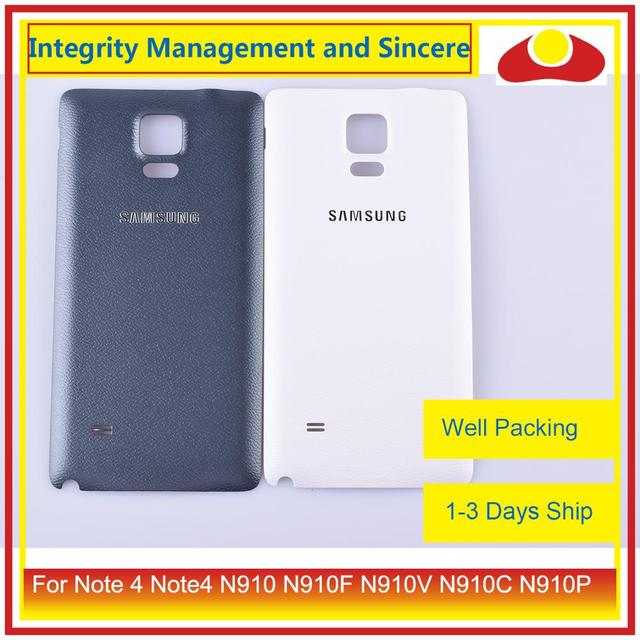 10 шт./лот для Samsung Galaxy Note 4 Note4 N910 N910F N910V N910C N910P корпус батарейного отсека задняя крышка корпус