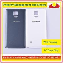 10 sztuk/partia dla Samsung Galaxy Note 4 Note4 N910 N910F N910V N910C N910P obudowa klapki baterii tylna część obudowy obudowa powłoki