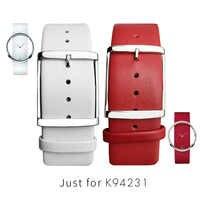Frauen Uhr Bands Für CK K94231 Echtem Leder Weiche Durable Für Calvin klein Strap Uhrenarmbänder 22 MM Weiß Schwarz braun Rot Männer