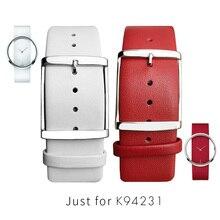 Kadın saat kordonları CK K94231 Hakiki Deri Için Yumuşak Dayanıklı Calvin Klein Kayış Saat Kayışı 22 MM Beyaz Siyah Kahverengi kırmızı Erkekler