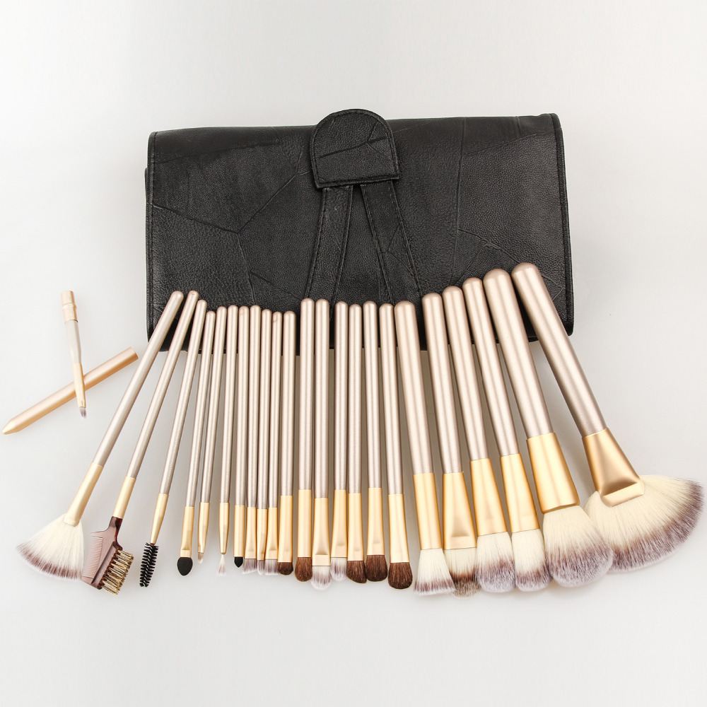 Professional 12/18/24pcs Makeup Brushes Set Maquiagem Tool cosmetics Make Up Tools Set Fan Powder Brush with Leather Case 147 pcs portable professional watch repair tool kit set solid hammer spring bar remover watchmaker tools watch adjustment