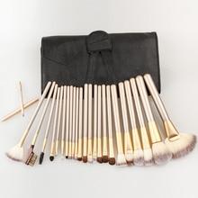 Professional Maquiagem Tool 12/18/24pcs Makeup Brushes Set Cosmetic Make Up Tools Set Fan Powder Brush with Leather Case