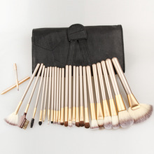 Maquiagem profissional Ferramenta 12/18/24 pcs Pincéis de Maquiagem Conjunto de Cosméticos Make Up Tools Set Escova Fã Pó com Capa De Couro