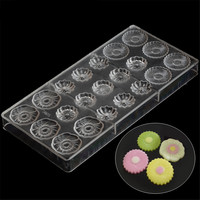 Baking Pastry Tools Petal Flower Shaped Chocolate Mold Polycarbonate Chocolate Making Tools Plastic Mould For Chocolate