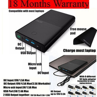 Vinsic Laptop Power Bank 30000mah For Notebook PC Lenovo Samsung Laptop Powerbank External Battery Charger 18
