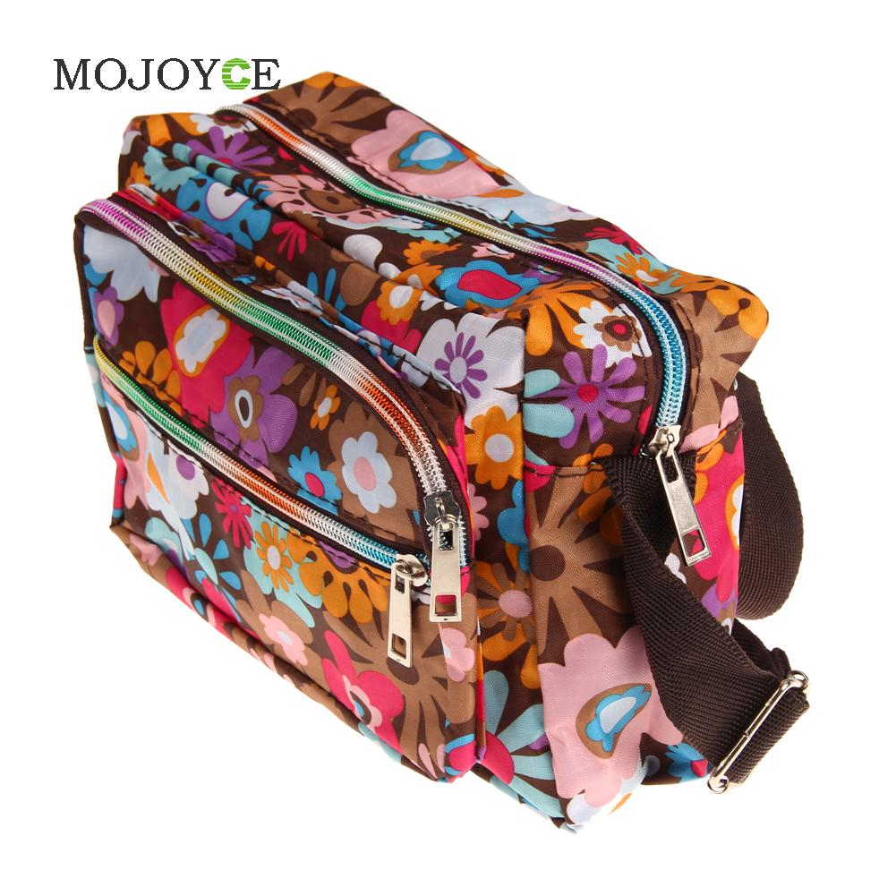 Floral Print Women Bag Crossbody Women Messenger Bags Casual Handbag Canvas Bag Handbags Women Famous Brands Bolsa Feminina 1STL lining splicing floral print casual wide hem organza midi skirt for women
