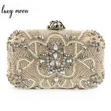 Exquisite Evening Bag For Women Handmade Beaded Clutch Bag High Quality Wedding Purse Female Chain Shoulder Bag Bolsas Mujer