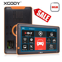 XGODY 9 Inch Car GPS Navigation Bluetooth AVIN FM 8GB Rear View Camera Navitel Europe Map Sat Nav Truck Navigator GPS Automobile