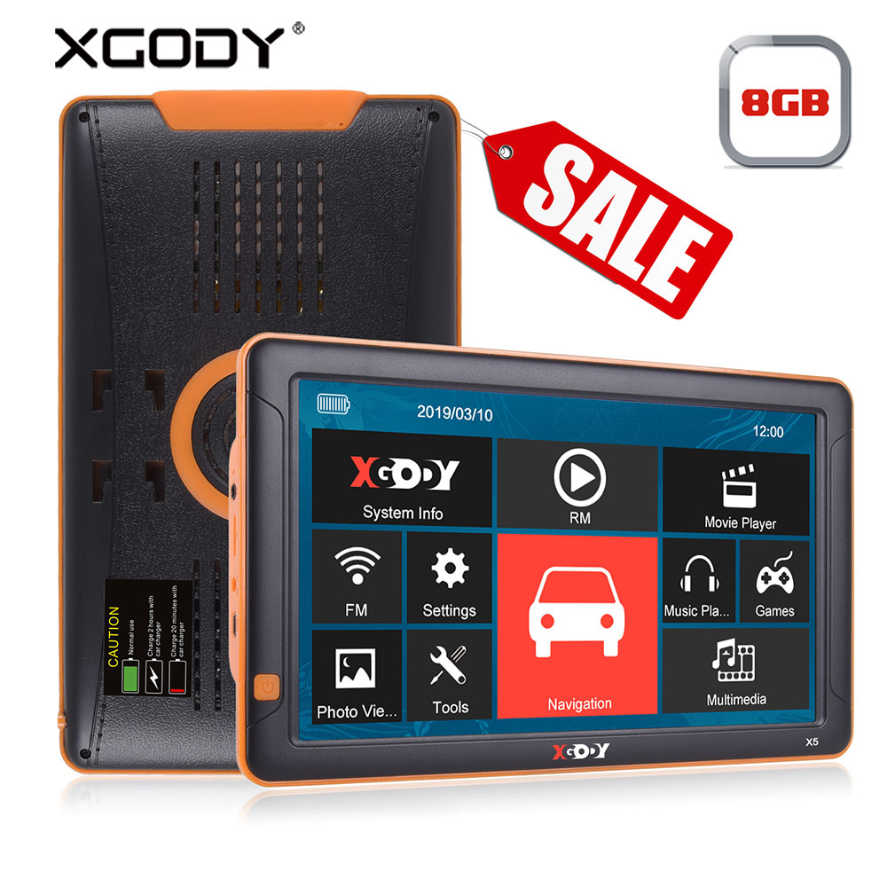 XGODY 9 pouces voiture GPS Navigation Bluetooth AVIN FM 8 GB caméra de recul Navitel Europe carte Sat Nav camion navigateur GPS Automobile