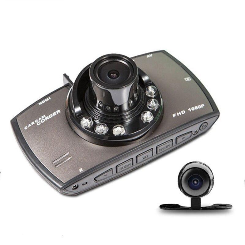 imágenes para 2.7 pulgadas de Alto Funcionamiento de Coste Lente Dual Cámara Del Coche DVR HD1080P Registrador de La Visión Nocturna Grabador de Vídeo Cámara de Visión Trasera