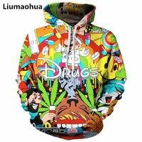 Liumaohua 2018 Fashion Autumn new style 3d Hoodies Cartoon Super Mario 3D print Hoodie Sweatshirt funny drugs casual Pullovers
