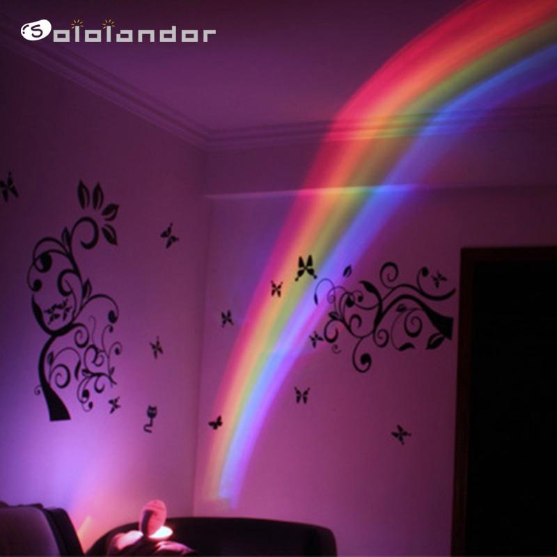 3 Modes RGB LED Lamp Colorful Led Creative Night Light Egg Shaped Rainbow Projector Light Romantic Magic Children Bedroom Decor