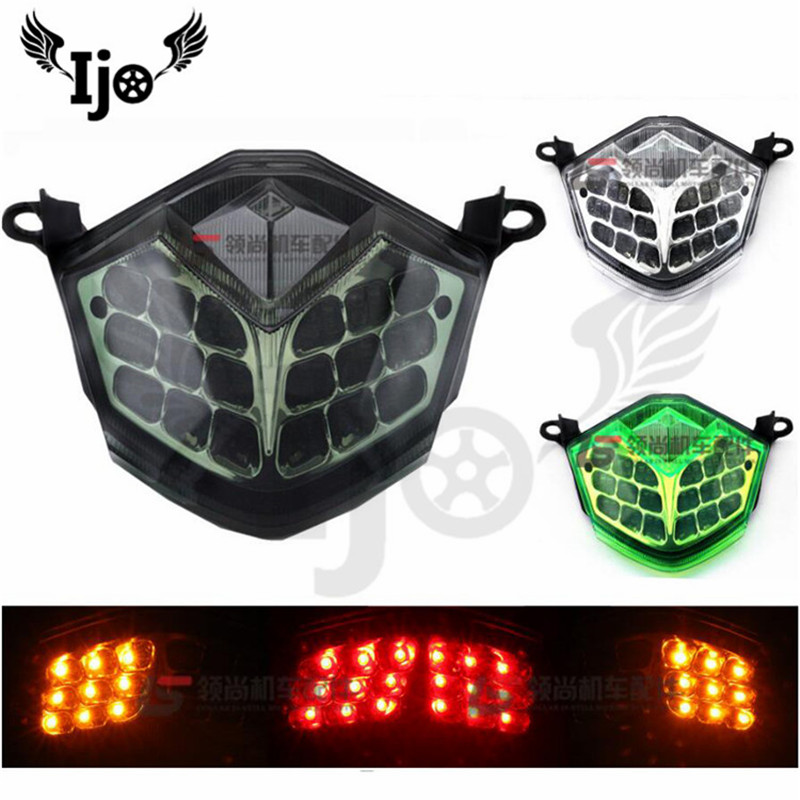 brand professional Modified accessories indicator flashers moto tail light for Kawasaki ZX-6R ZX10R brake light motorcycle LED