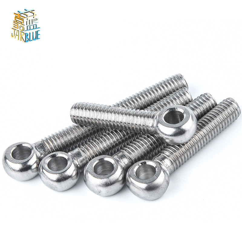 M8 304 Stainless Steel Metric Thread Wing Hinge Screw Eye Bolt Stud Articulated Anchor Bolt FasternerM8 304 Stainless Steel Metric Thread Wing Hinge Screw Eye Bolt Stud Articulated Anchor Bolt Fasterner
