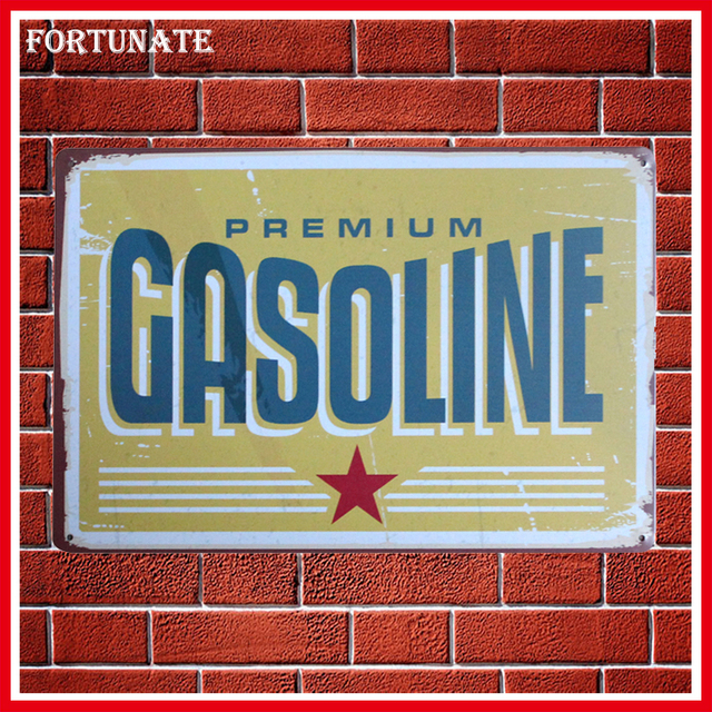 Hot Premium Gasoline Vintage Metal Signs Home Decor Vintage Tin Signs Pub  Vintage Decorative Plates Metal