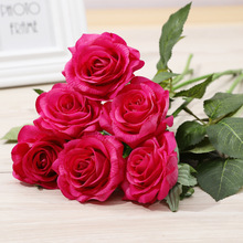 single-feel moisturizing rose artificial flower multiple colour living room wedding decoration shooting props fake flowers