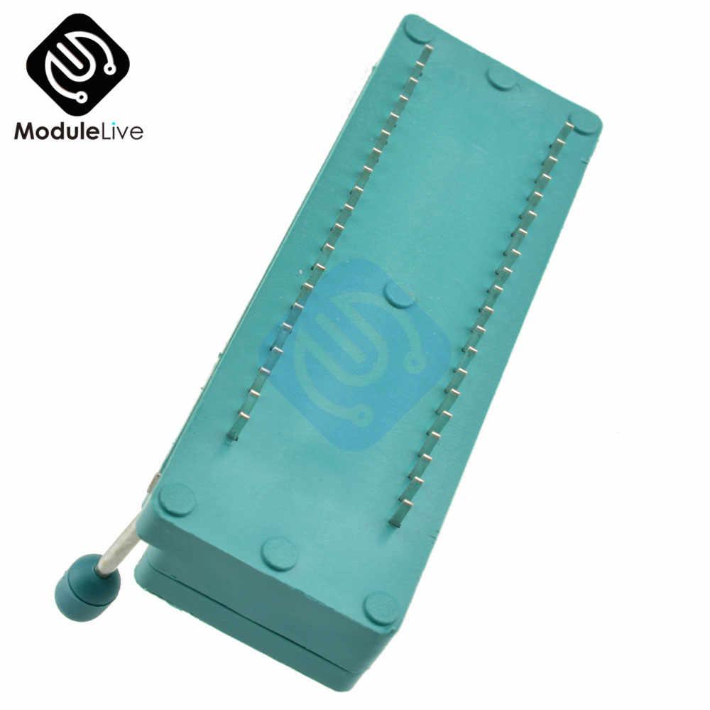 Zielony DIP uniwersalny ZIF gniazdo IC Test typ lutowania 40P 40Pin ZIF ZIP DIP IC wielofunkcyjny uniwersalny płyta testowa gniazdo