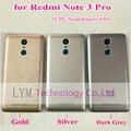 Cinza prata ouro caso para xiaomi redmi note3 pro (Snapdragon 650) substituição da Bateria Back Door Capa para Note 3 Pro