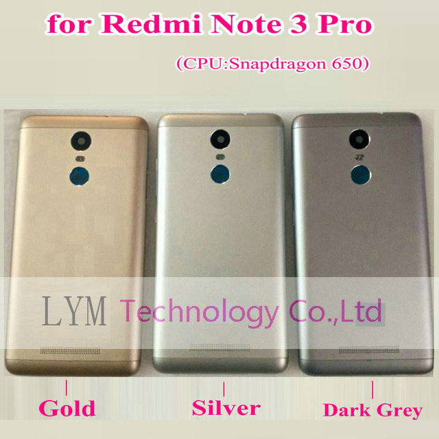 Silver Grey Gold Case for Xiaomi Redmi Note3 Pro (Snapdragon 650) Replacement Battery Back Door Cover  for Note 3 Pro