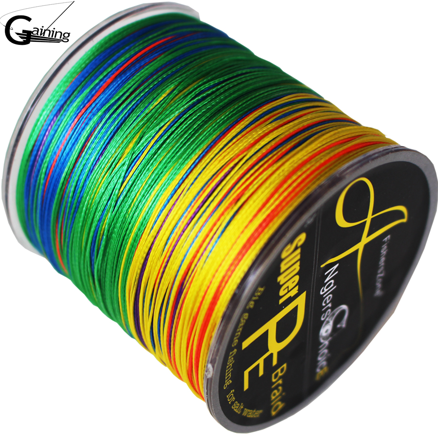 fiskeri pe linje 8 Strands Flettet fiske linje 300m Multi Color Super Strong Japan Multifilament PE fletningslinje 10LB 100LB 200LB