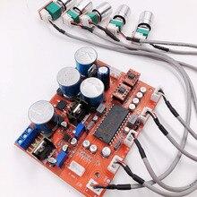 Lm4610 amplificador estéreo hifi, pré amplificador, placa de som, amplificador de áudio op275, controle de volume e tom