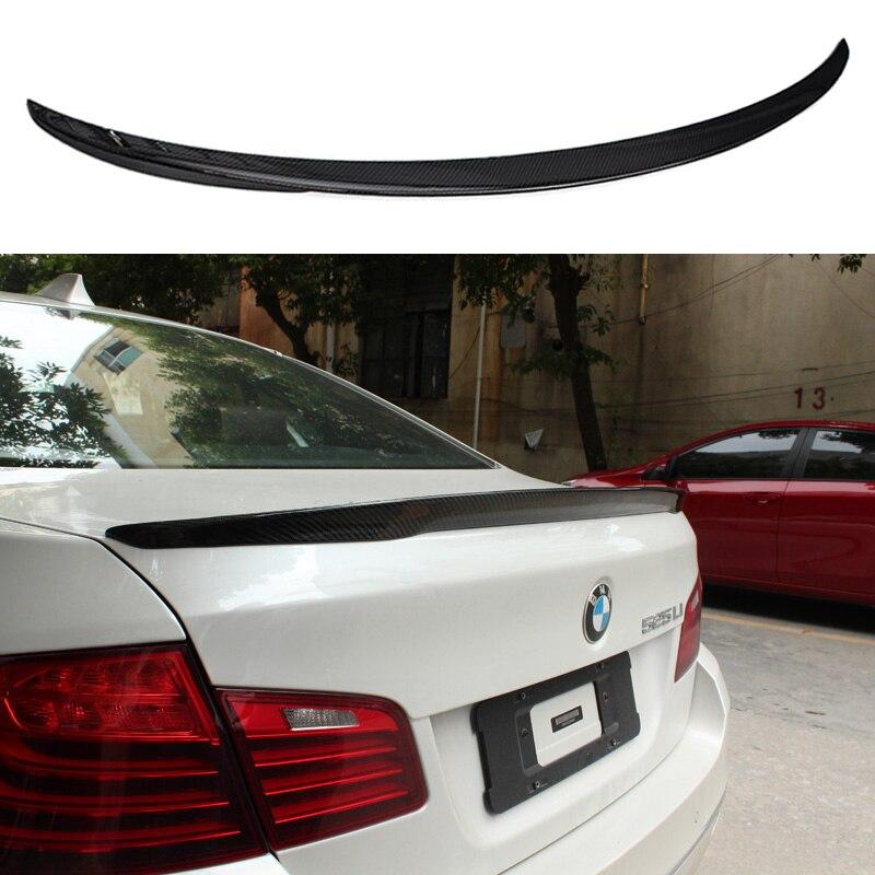 Rear Boot Spoiler Carbon Fiber Factory for BMW F10 Sedan 528i 530i 535i M5 10-14