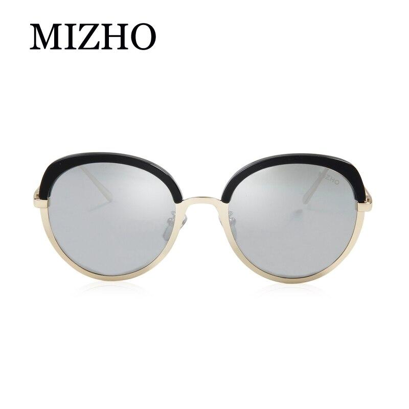 c3c72c3a38 MIZHO Brand Future Copper Metal Polarized Sunglasses Women Cat eye Mirror  PINK UV400 Oval Eyewear Woman Sun Glasses Clear Visual-in Sunglasses from  Apparel ...