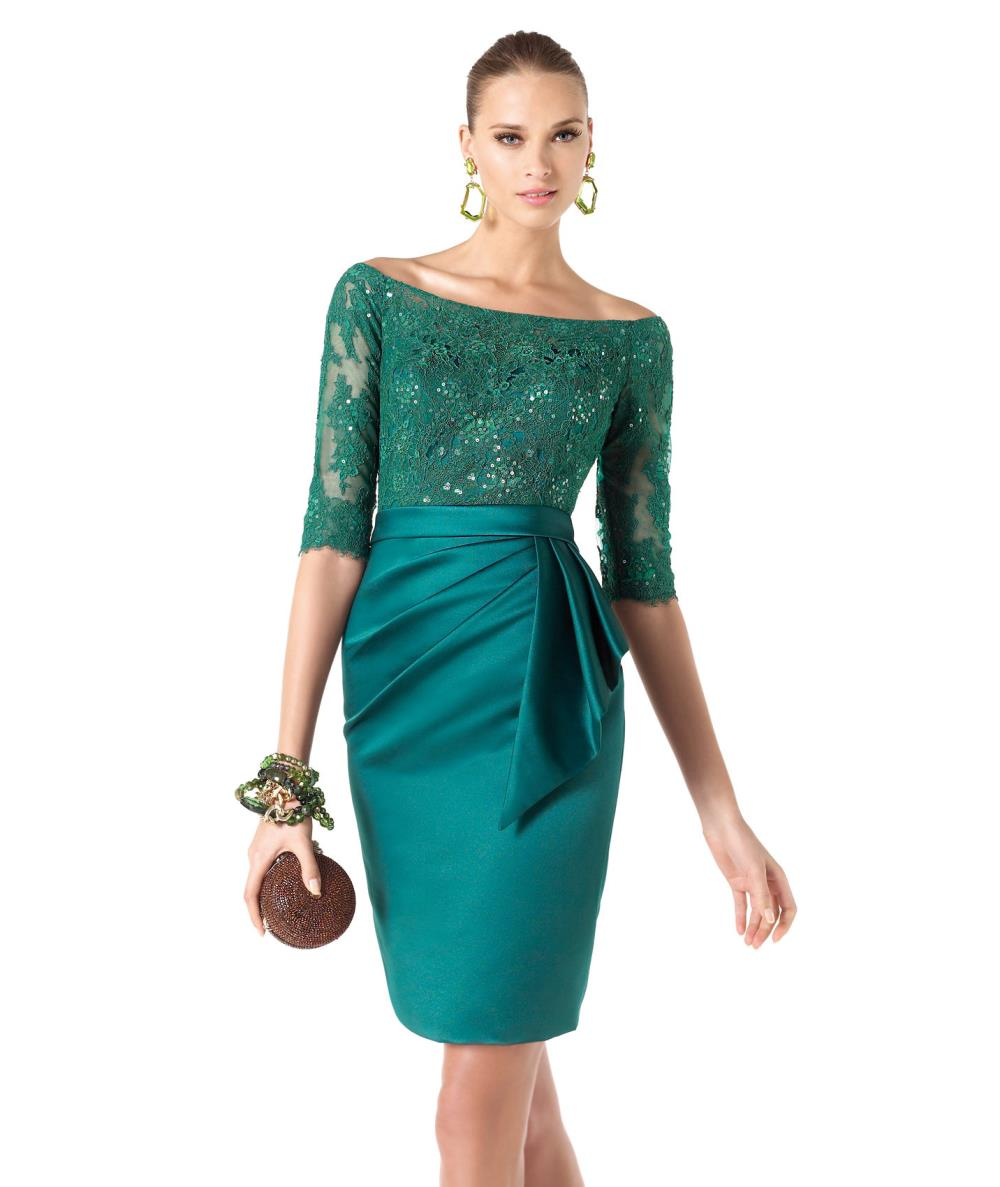 Popular Lace Cocktail Dresses Green-Buy Cheap Lace Cocktail ...
