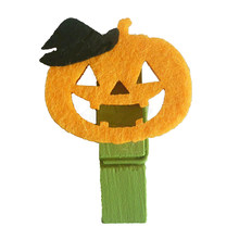 10PCS Halloween Photo Clips Multi-purpose Pumpkin Designed Card Holders Memo Clips Crafts Clips(China)