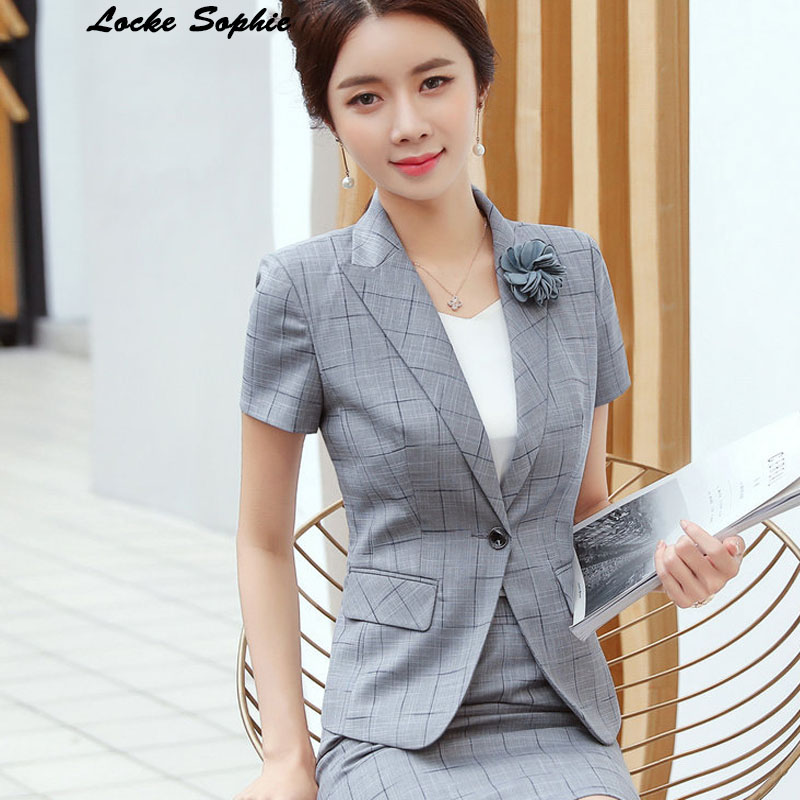 1pcs Womens Plus Size Blazers Coats 2019 Summer Cotton Short Sleeve Small Suits Jackets Ladies Skinny Office Blazers Suits Coats