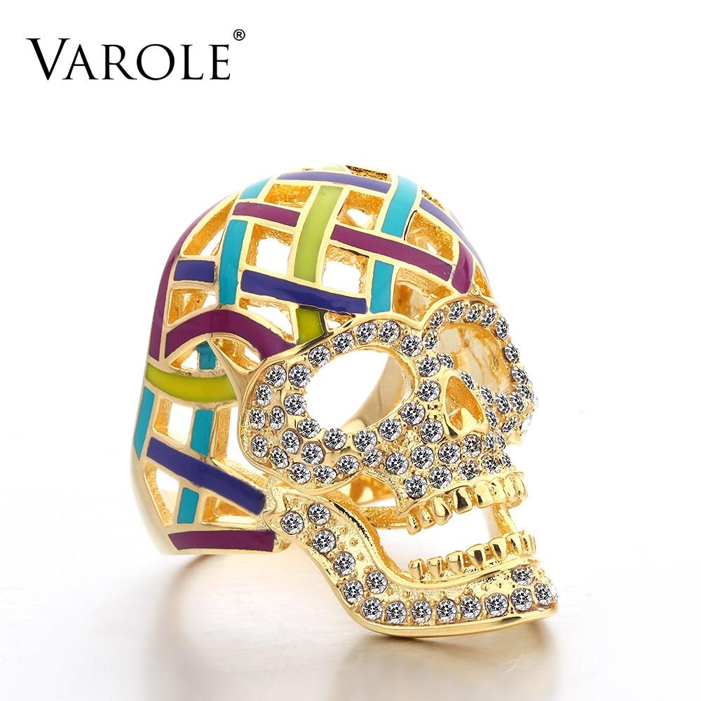 VAROLE Classic Horror Hollow Skull Rings for Women