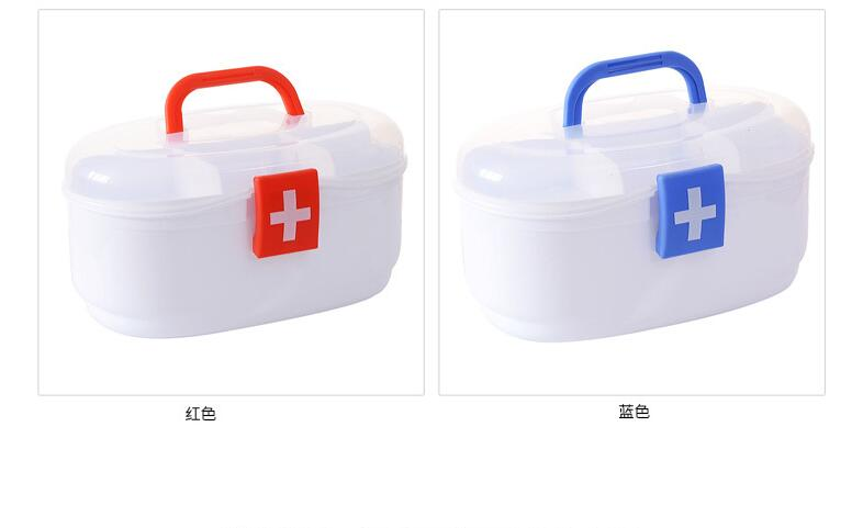 Plastic household medicine box family first aid kit multi-layer medicine storage box children baby medicine box цена