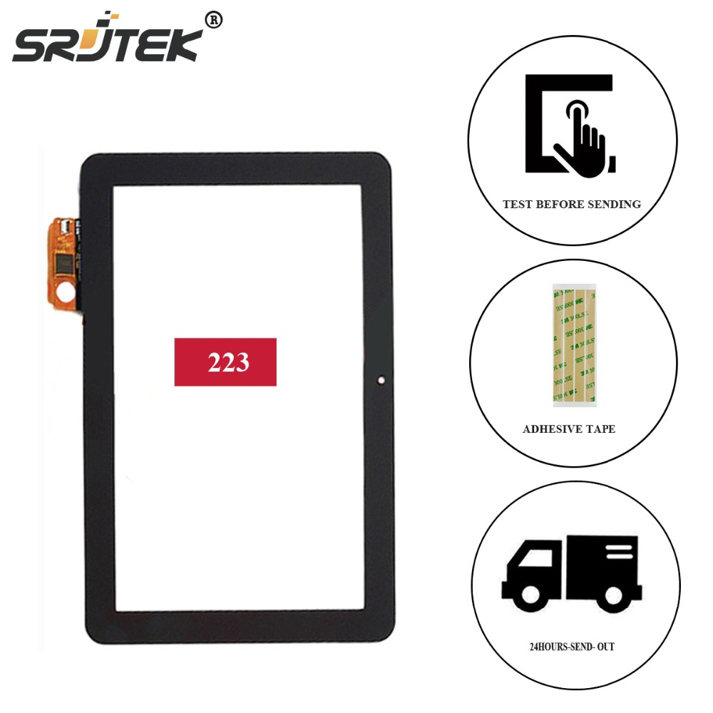Srjtek for ACE 10inch For ACE-CG10.1A-223 TYT FPDC-0085A-1 10.1inch capacitive touch screen panel tablet pc for IPS noting size 1000b