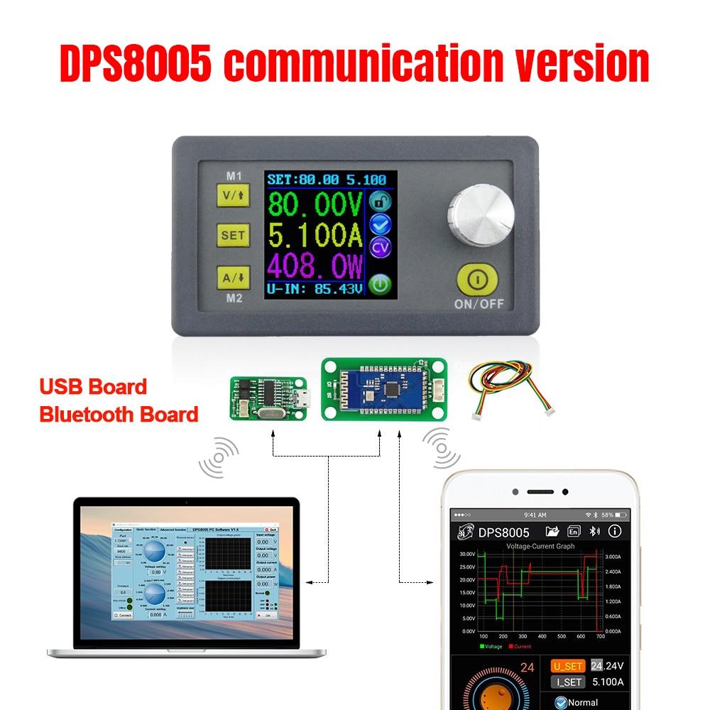 DPS8005 80V constant voltage 5A current Step down programmable power supply module Ammeter Voltmeter buck regulator convert 30%