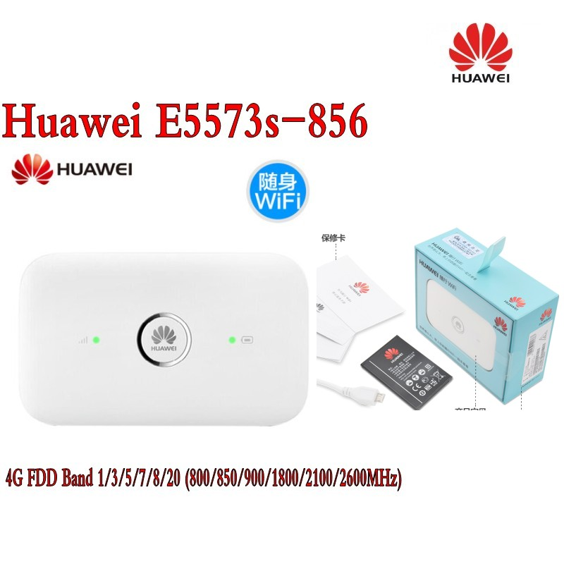 Unlocked Huawei E5573 Dongle Wifi Router E5573S-856 Mobile Hotspot Wireless 4G LTE huawei b593u 91 lte tdd2300 2600mhz b38 b40 dc hspa 3g 900 2100mhz mobile wireless cpe router