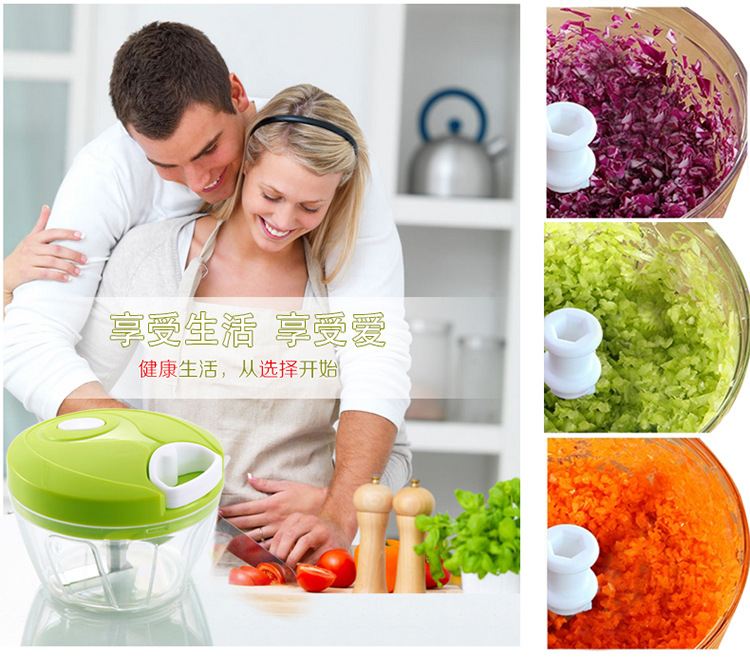 Pull-cord Food Chopper Fruit Vegetable Dicer Garlic Ginger Cutter Kitchen Gadgets Cooking Tools 1