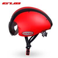 Gub ciclismo tempo trail racing capacete de segurança com lente do google 13 aberturas in mold pc + eps para bicicleta equitação cabeça orelha proteção para os olhos|time trail helmet|trail helmet|time helmet -
