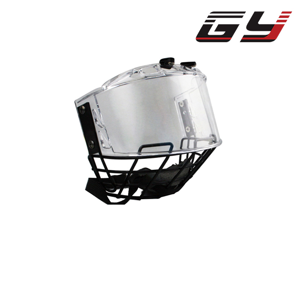 Ice hockey helmet combination with metal mask PC visor player google free shipping high quality pp eva foam ice hockey helmet with black wire cage face mask
