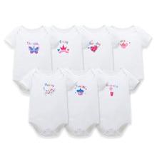 HOMIESTTEXTILE 7PCS/Lot Spring Baby Boy Cotton Rompers