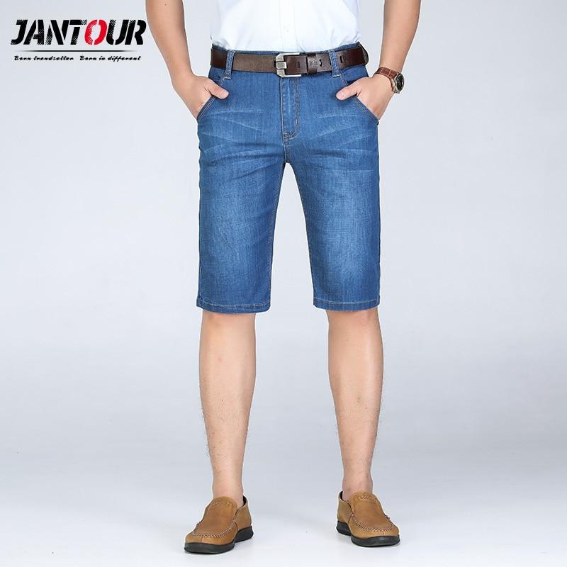 jantour New 2019 Summer Denim Shorts Men Fashion   Jeans   Casual Cotton Slim Fit High Quality Brand Clothing big size 28-40 42 44 4