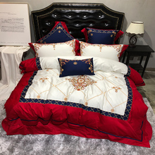 Luxury European Palace 4/7pcs Bedding Set Royal Embroidery Egyptian Cotton Queen Size Duvet Cover Bed Linen/sheet Pillowcases